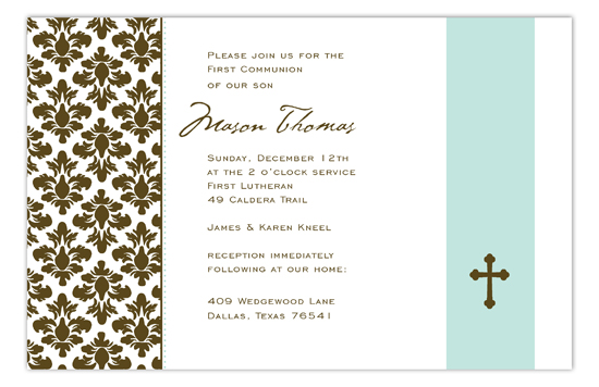 Floral Damask Invitation
