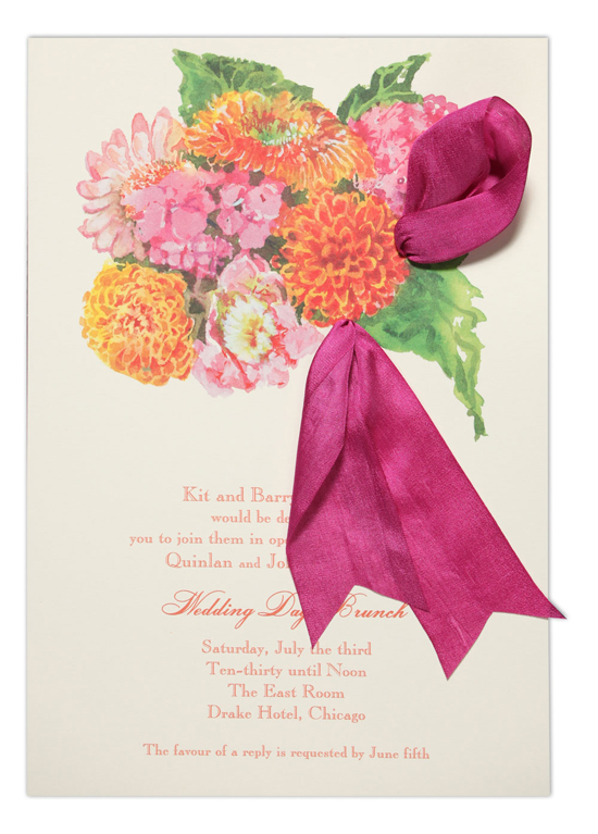 Floral Fireworks Invitation
