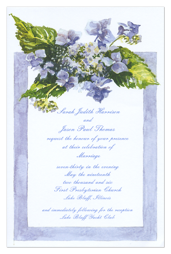 Purple Floral Custom Wedding Invitations