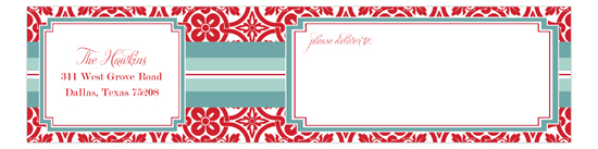 Floral Mesh Envelope Wrap Address Label