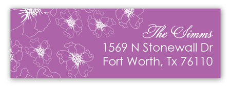 Floral Radiant Orchid Address Label