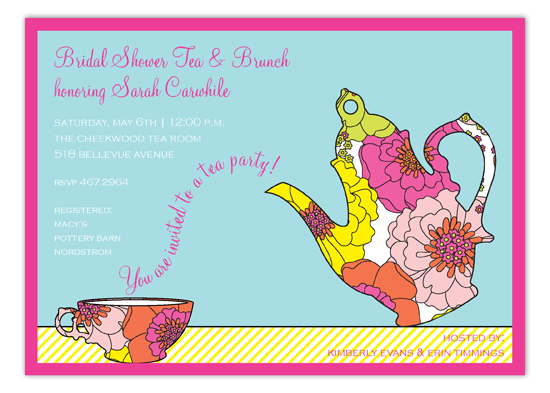 Floral Tea Set Invitation