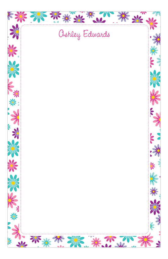 Flower Power Notepad