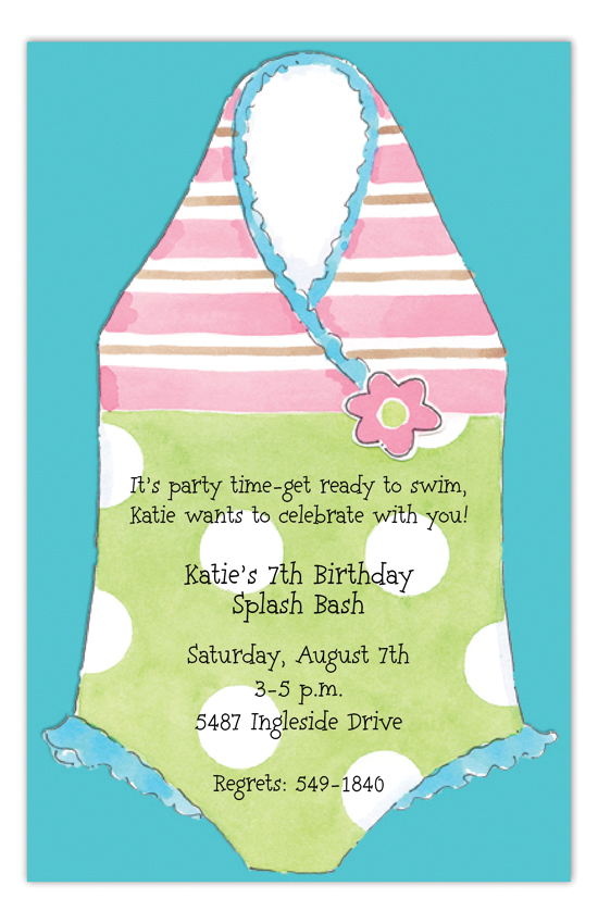Flower Swimsuit Invitation