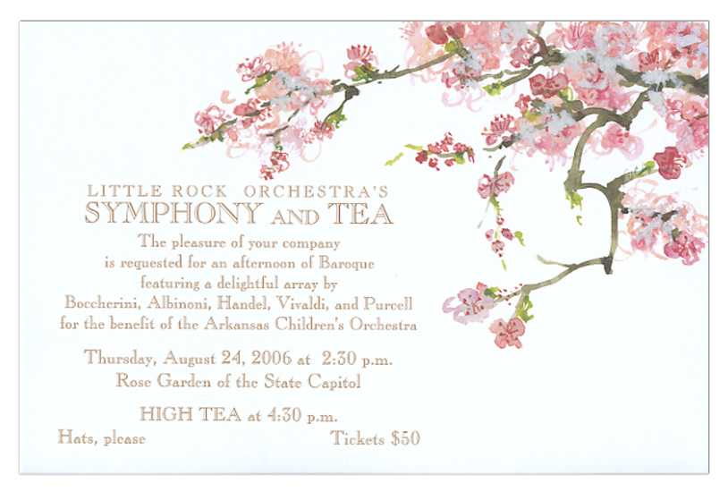 Flowering Fruit Invitation