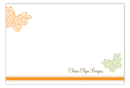 Fluttering Leaves Flat Note Card