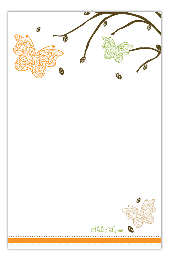 Fluttering Leaves Notepad