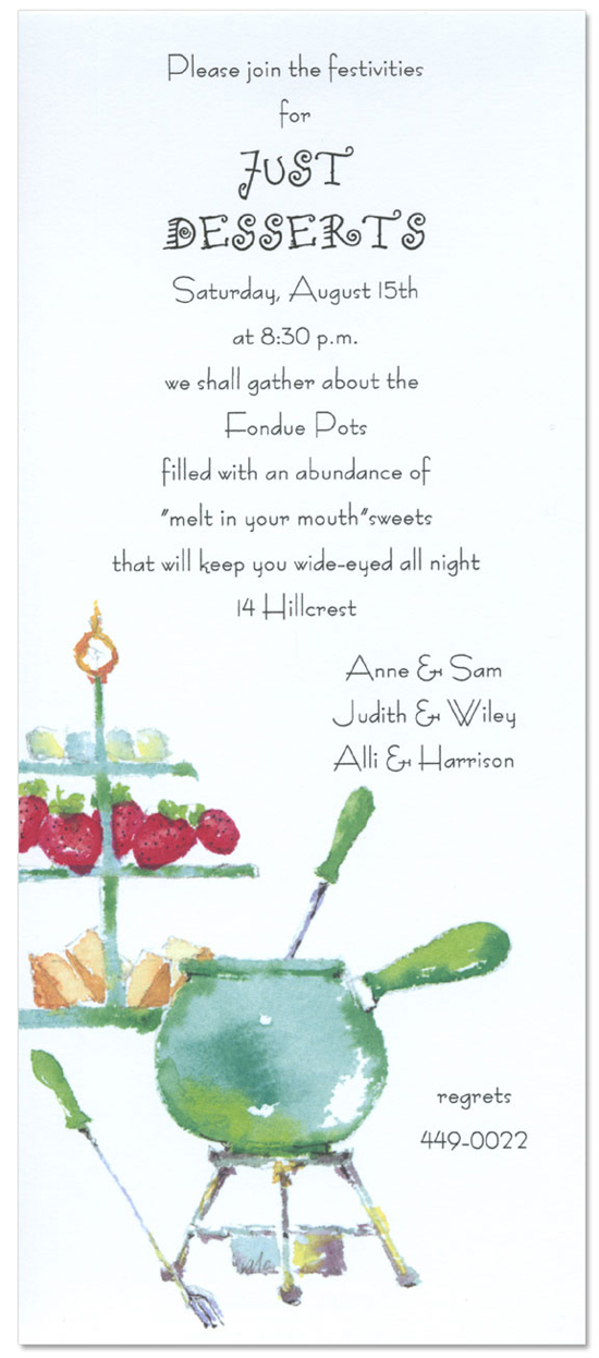 Fondue Invitation