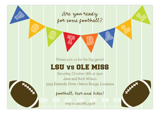 Super Bowl Party Invitations