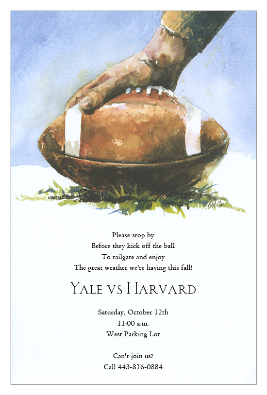 Football Tailgate Party Invitations Polka Dot Design