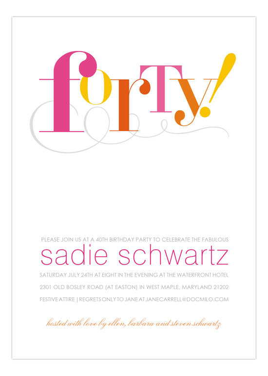 Forty! Invitation