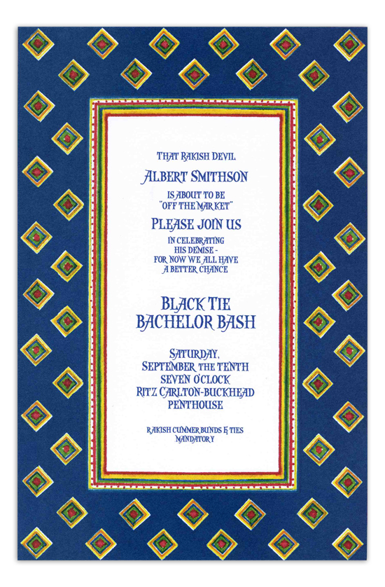 Foulard Navy Invitation