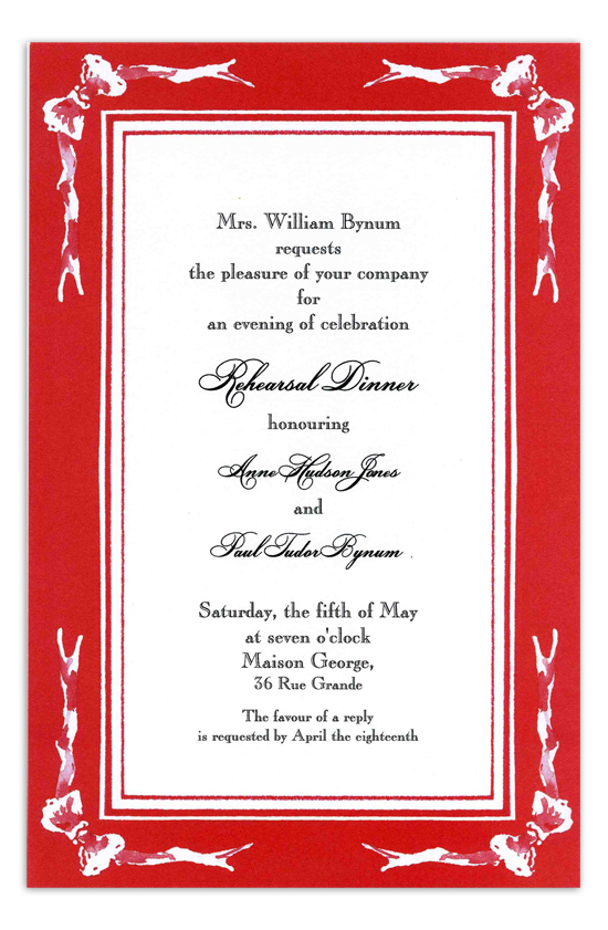 Four Little Bows Invitation