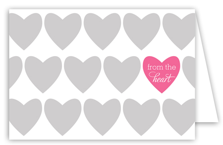 From the Heart Folded Valentine Card