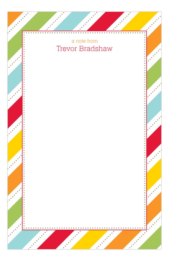 Fruit Stripes Notepad