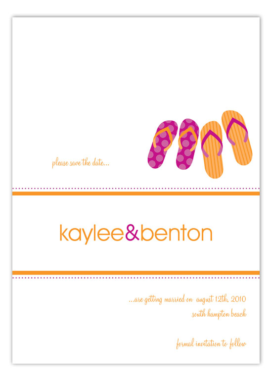 Fuchsia Perfect Pair Invitation