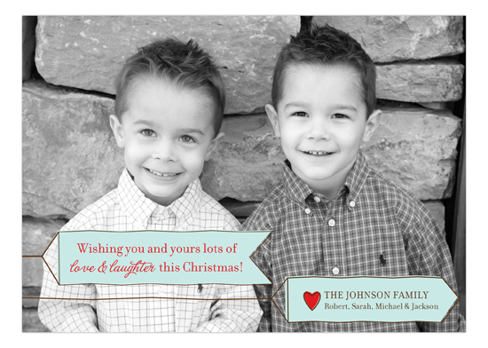 Fun and Festive Banner Photo Card