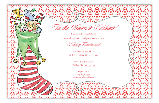 Fun Stocking Invitation