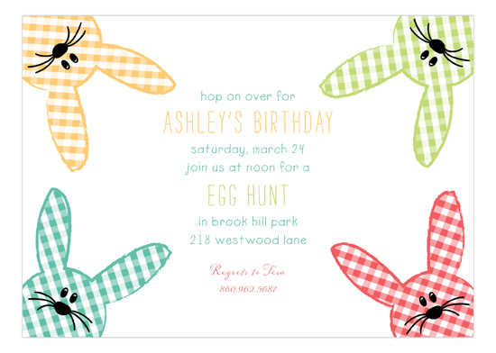 Funny Bunnies Invitation