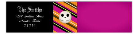 Fuschia Skull 2.0 Envelope Wrap Label