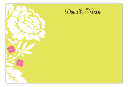 Garden Floral Flat Personalized Note Cards