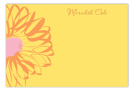 Garden Party Flat Note Card