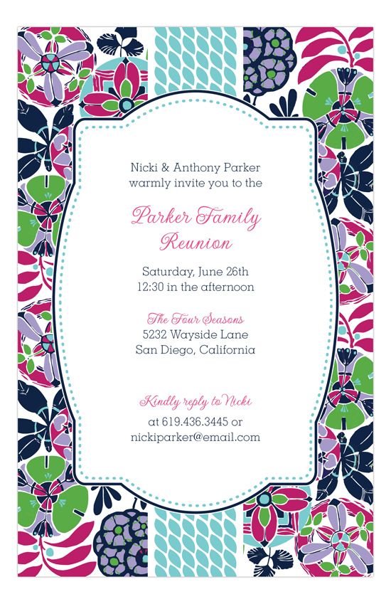 Geometric Garden Invitation