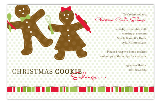 Gingerbread Folks Invitation
