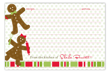 Gingerbread Folks Recipe Card
