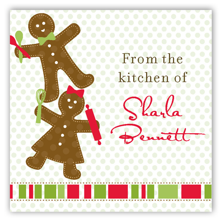Gingerbread Folks Square Sticker