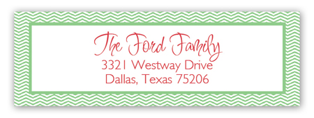 Gingerbread House Address Label