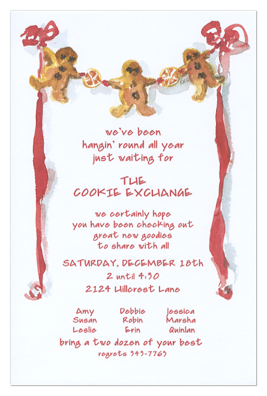 gingerbread man invitations