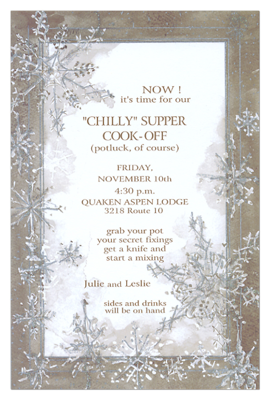 gingerbread snow invitation