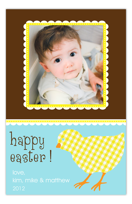 Gingham Chick Photo Card