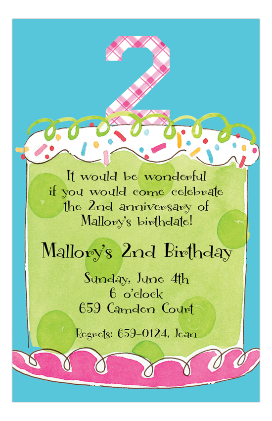 Girl Second Birthday Invitation