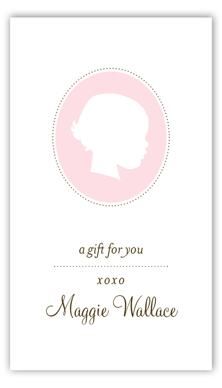Girl Silhouette  Calling Card