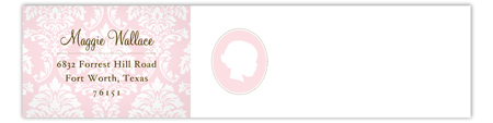 Girl Silhouette  Envelope Wrap Address Label