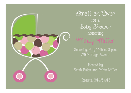 Girl Stroller Invitation