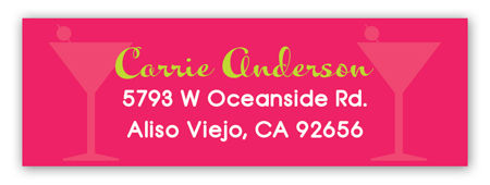 Girls Night Glitz Address Label