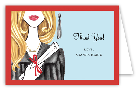 Glamorous Grad - Blonde Note Card