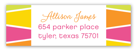 Glitter Grad Cap Address Label