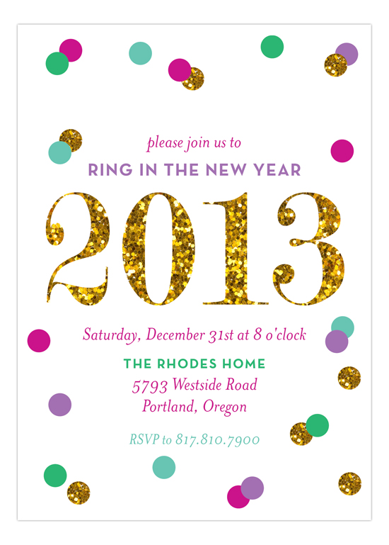 Glitter New Year Invitation