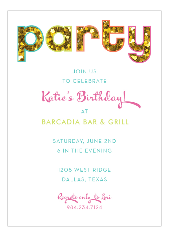 Glitter Party Invitation