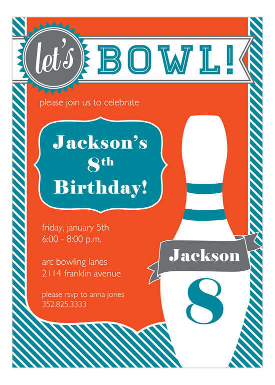 Go Bowling! Fabulous Invitation
