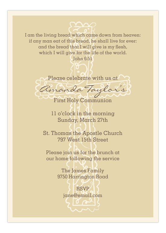 Gold Cross Background Invitation