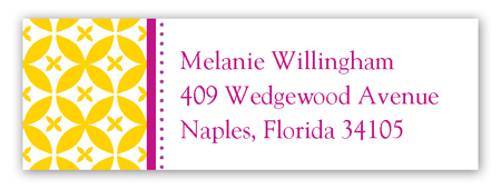 Gold Elegance Address Label