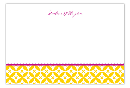 Gold Elegance Flat Note Card