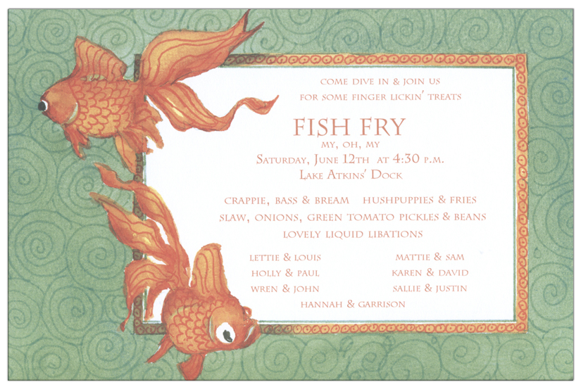 Gold Fish Invitation