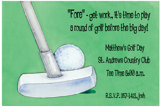 Putt Putt Golf Birthday Invitations – Golf Party Invites