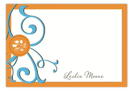 Gourmet Get-Together Tangerine Flat Note Card